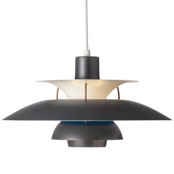 Louis Poulsen PH 5 Contemporary pendant, dark grey