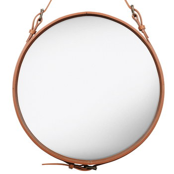 Gubi Adnet mirror M, tan