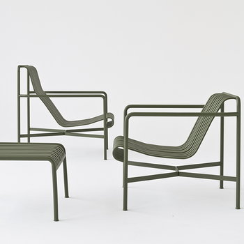 Hay Palissade lounge chair, low, olive