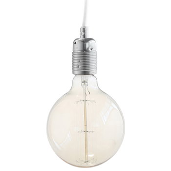 Frama E27 lampunjohto, teräs-valkoinen