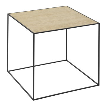 By Lassen Twin 42 table, white/oak