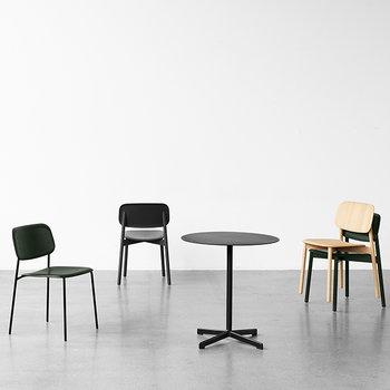 Hay Soft Edge chair, steel base, matt laquered oak