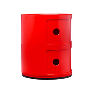 Kartell Componibili storage unit, 2 modules, red