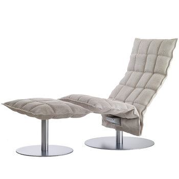 Woodnotes K chair, swivel, narrow, stone-white