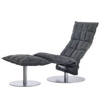 Woodnotes K chair, swivel, narrow, graphite