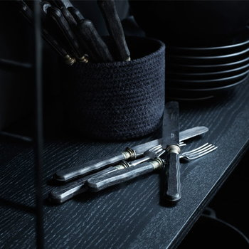 String String workdesk, black stained ash