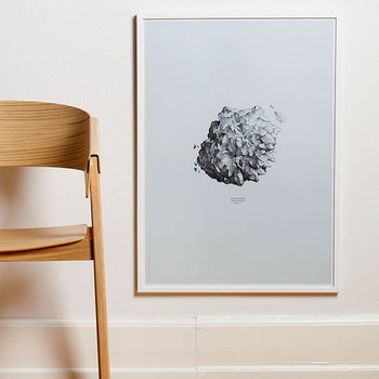 Paper Collective Nature 1:1 Hailstone poster, blue