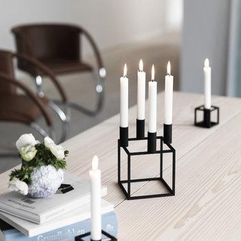 By Lassen Kubus 4 candleholder, black
