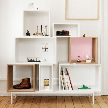 Muuto Stacked shelf module medium, ash/rose