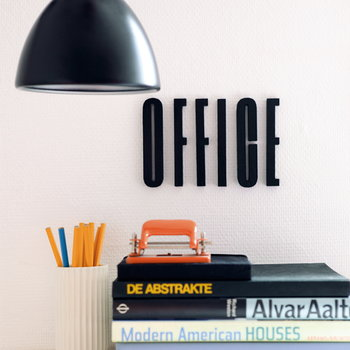 Design Letters Arne Jacobsen wooden letter, black