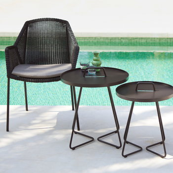 Cane-line Breeze dining chair, stackable, black