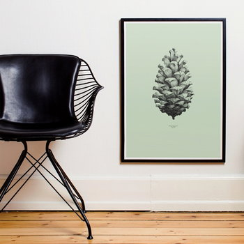 Paper Collective Nature 1:1 Pine Cone poster, green