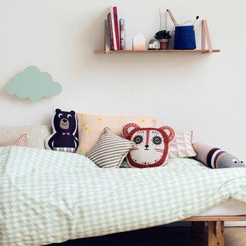 Ferm Living Billy Bear cushion, orange