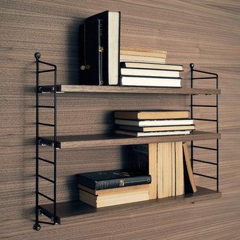 String String Pocket shelf, walnut/black