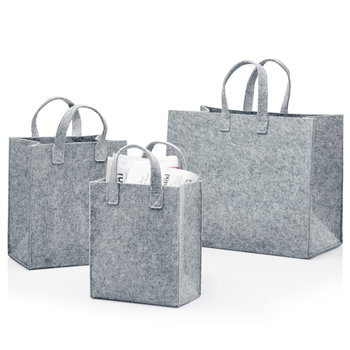 Iittala Meno home bag large, grey felt