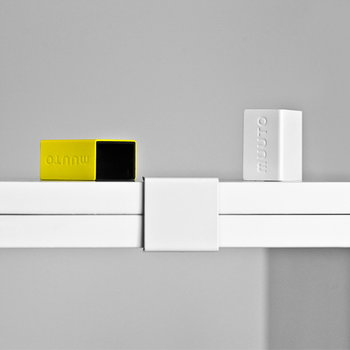 Muuto Stacked shelf module large, white