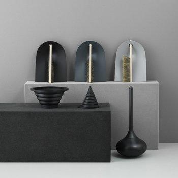 Normann Copenhagen Dustpan and broom, light grey