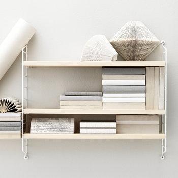 String String Pocket shelf, ash/white