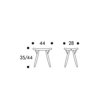 Artek Pirkka stool, brown-black