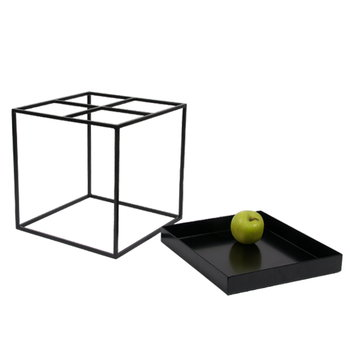 Hay Tray table small square, black