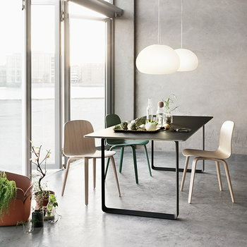 Muuto Visu chair, wood frame, grey