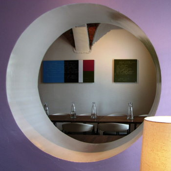 Kotonadesign Lavagna magnetica rotonda, fucsia