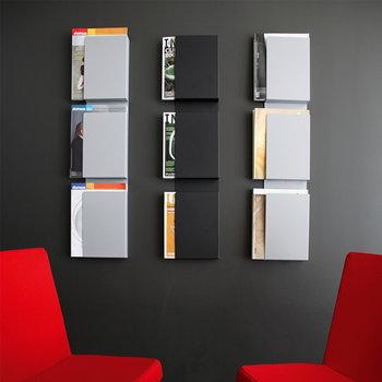 Inno Wall Case seinäteline lehdille, valkoinen