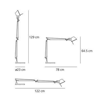 Artemide Tolomeo table lamp, aluminium