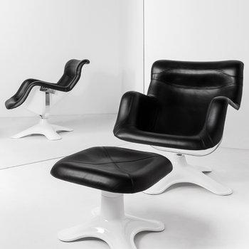 Artek Karuselli stool, black-white