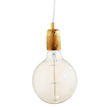 Frama E27 lampunjohto, messinki-valkoinen