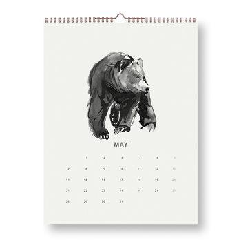 Teemu Järvi Illustrations Forest Greetings kalenteri 2018
