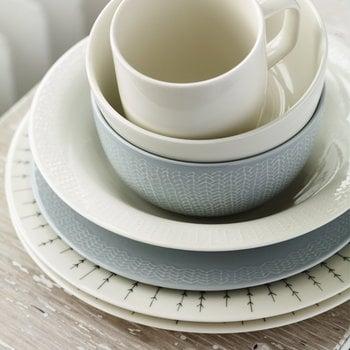 Iittala Sarjaton plate 22 cm, Letti pearl grey