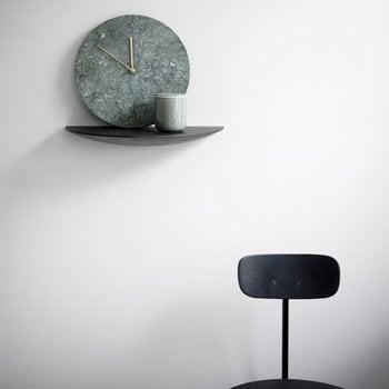 Menu Marble wall clock, green