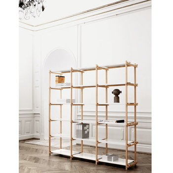 Hay Woody high shelving system, white
