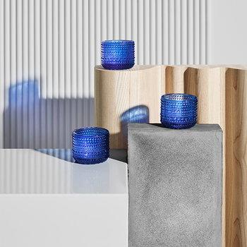 Iittala Finland 100 Kastehelmi votive, ultramarine