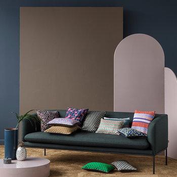 Ferm Living Salon tyyny, 40 x 40 cm, Pleat, ruosteenpunainen