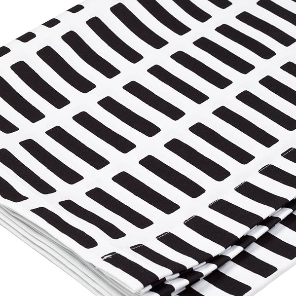 Artek Siena akryylipinnoitettu kangas 145x300cm, valko musta  Finnish Design