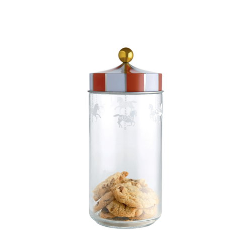 Alessi Circus glass jar, 1,5 L