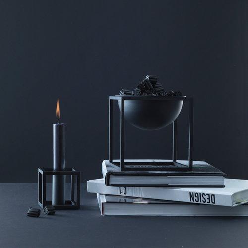 By Lassen Kubus 1 candleholder, black