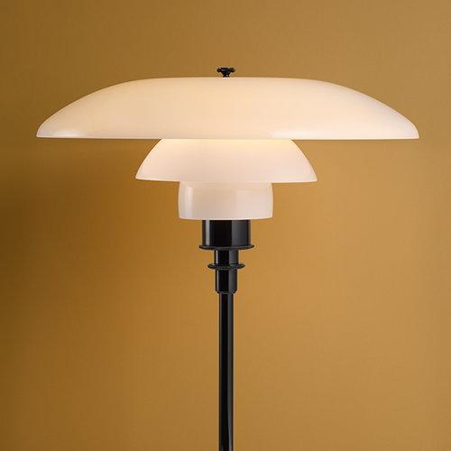 Louis Poulsen PH 3 1/2 - 2 1/2  floor lamp, chrome plated, opal glass