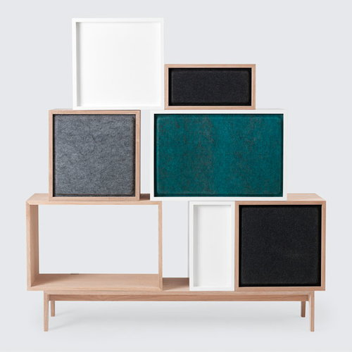 Muuto Stacked acoustic panel, large, black melange