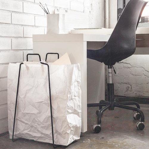 Everyday Design Helsinki paper bag holder, silver