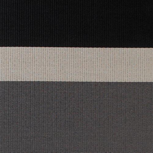 Woodnotes Panorama matto, musta-vaaleanharmaa