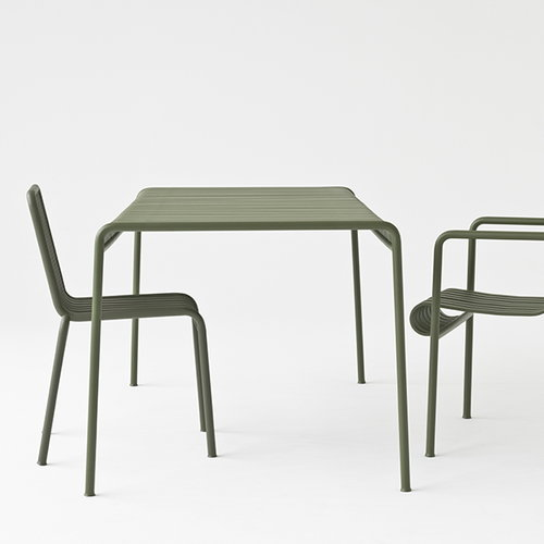 Hay Palissade table 80 x 80 cm, anthracite