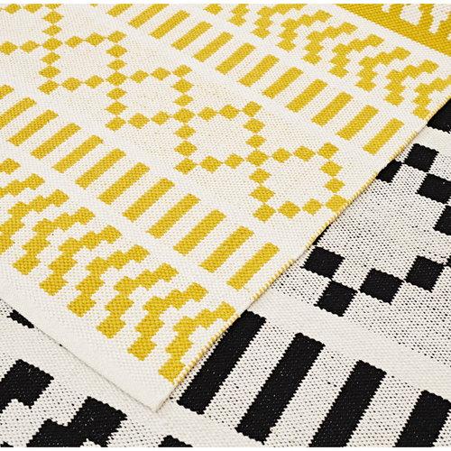 Forme Pikseli carpet, yellow-white