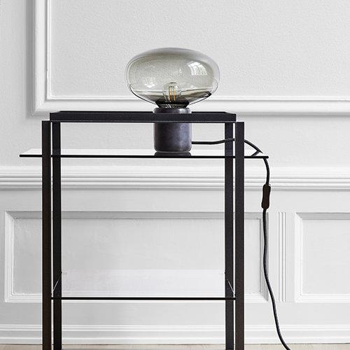 New Works Karl-Johan p�yt�valaisin, musta marmori