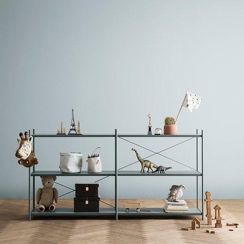 Ferm Living Punctual shelf, 2 x 3, grey