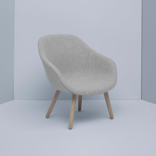 Hay About a Lounge Chair with seat cushion, AAL82, low
