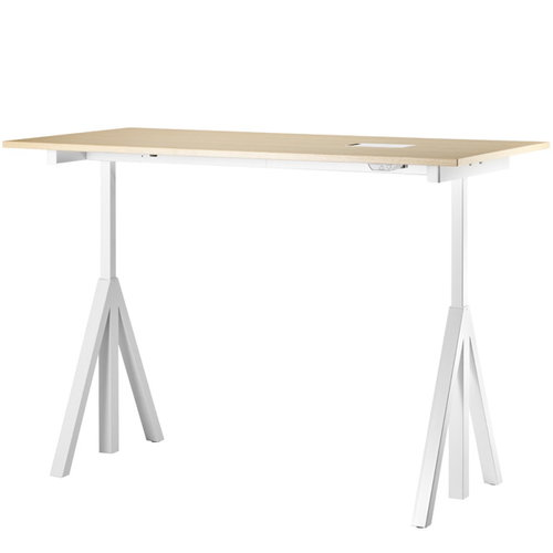 String String works height adjustable table 160 cm, ash