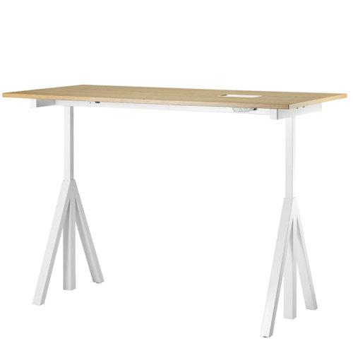 String String works height adjustable table 160 cm, oak